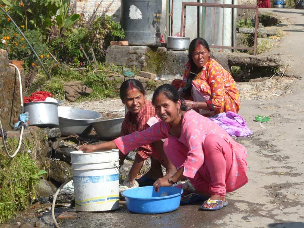 Wäscherinnen Kathmandu