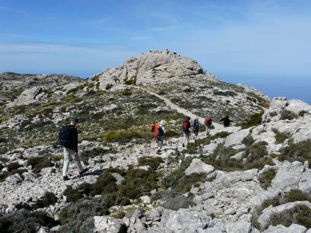 Wandern im März am Mittelmeer