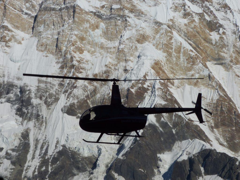 Schön, wenn es für den schlimmsten Notfall einen Helikopter gibt!