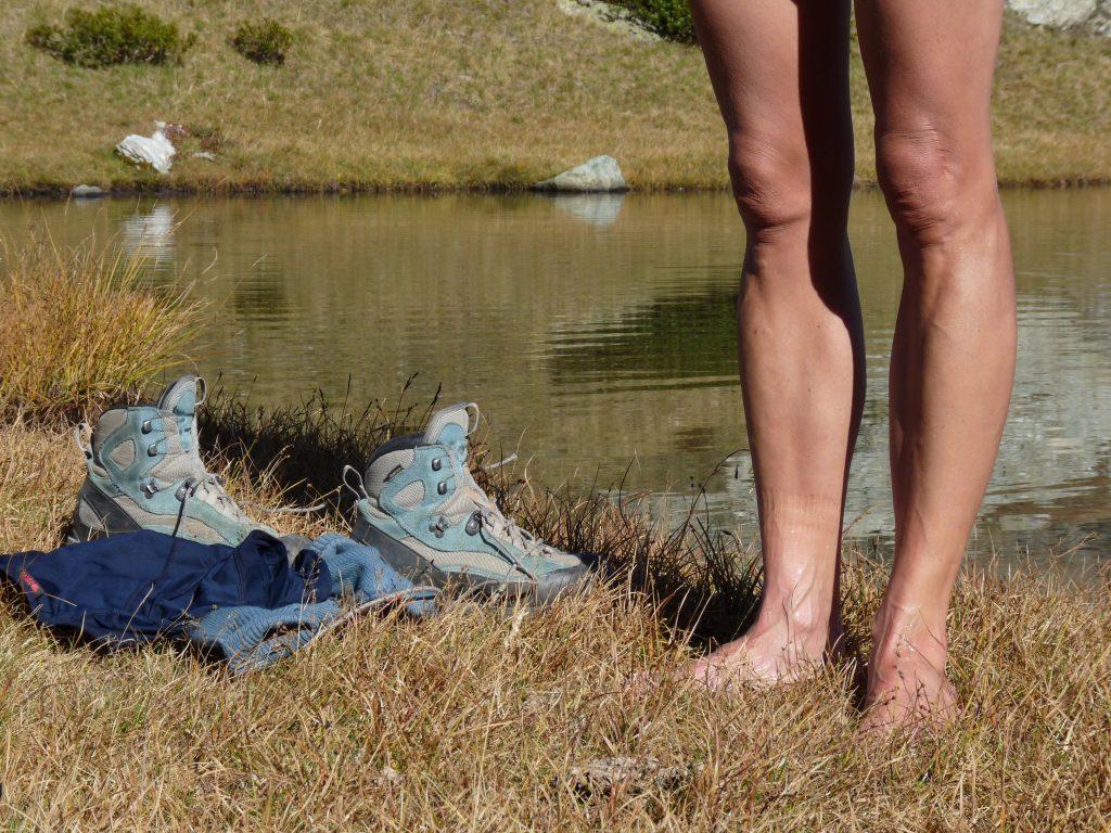 Wie schön, wenn man die Schuhe mal ausziehen kann ...