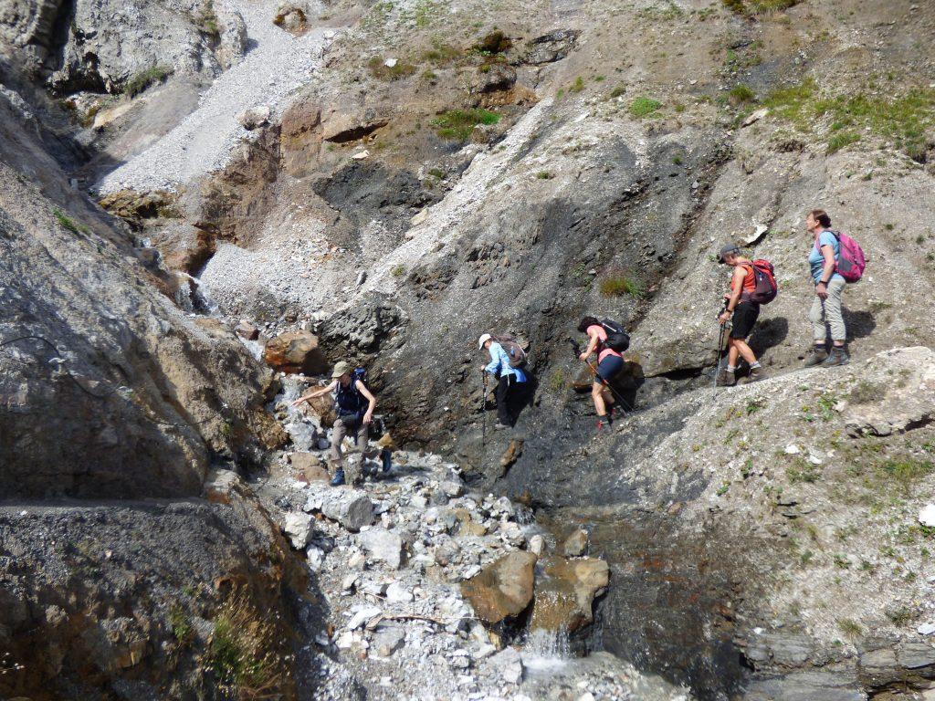 Es darf auch auf dieser Alpenüberquerung mal etwas spannender sein ...