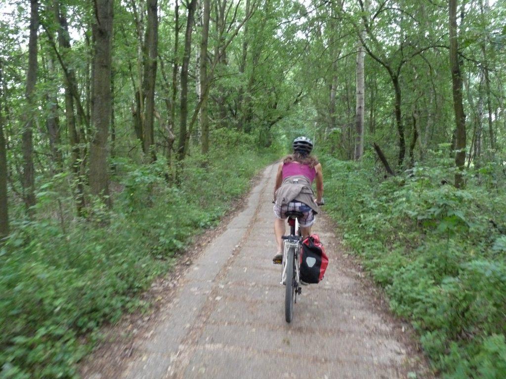 Auch Kolonnenwege wurden zu Radwegen.
