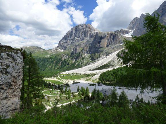 Schotterströme, typisch für die Dolomiten