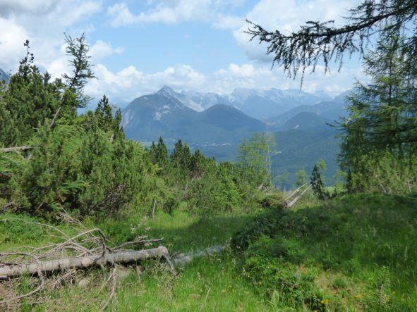 Ausblicke auf´s Karwendel bei Seefeld